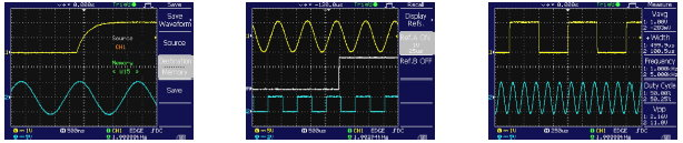 WAVEFORM SAVING AND AUTOMATIC MEASUREMENT